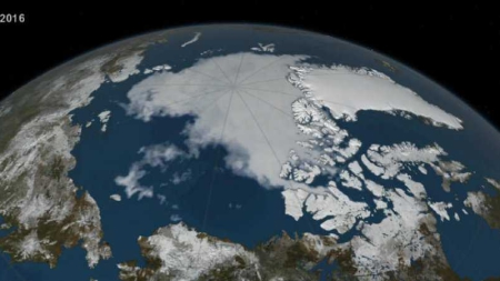 La fonte de l'Arctique vue depuis l'espace par la Nasa